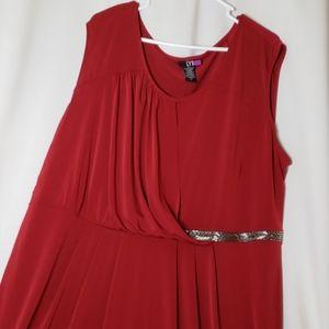 LYS Womens Sheath Dress  I X Burgundy Sleeveless
